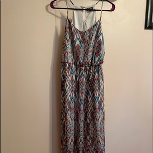 Multi colored maxi dress